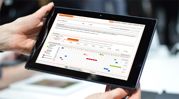The self service HR app allows employees to login to view schedules, pay slips, and more