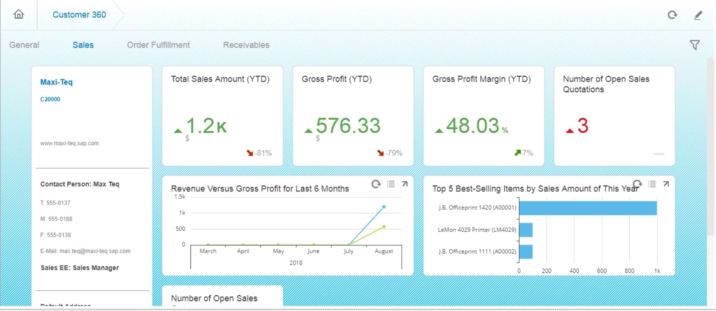 OptiProERP with Sap Business One Software - 360 Customer View