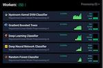 DataRobot screenshot: DataRobot prediction processing