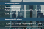 Neigbrs screenshot: The dashboard for our app is clear and concise
