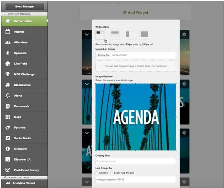 EventMobi Software - Add widget