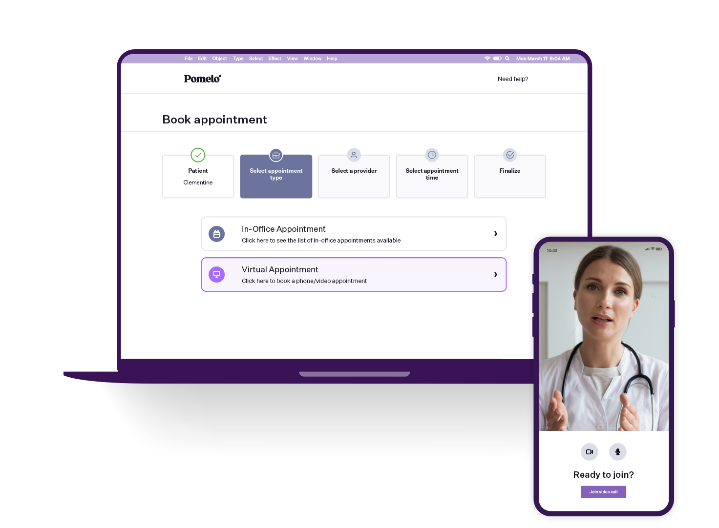Pomelo Health Software - Engage with your patients through secure, compliant video consultations, without any additional software downloads or registrations.