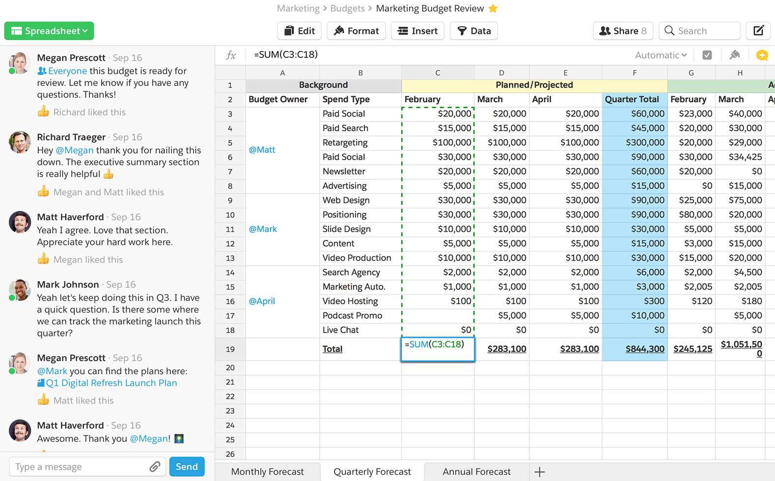 Use a familiar interface and 400+ functions to create mega-reports or simple, bite-sized tables