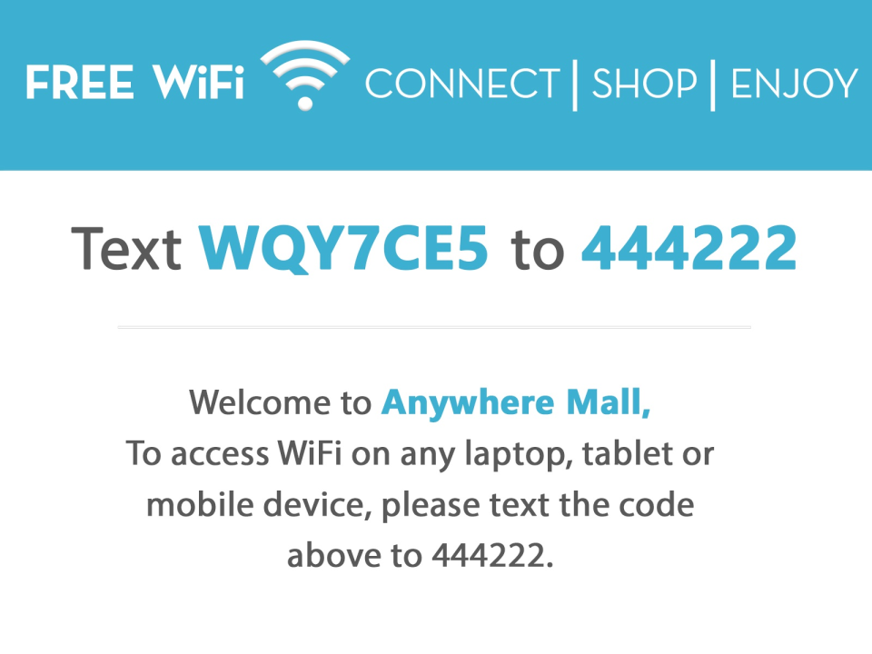 Customer data can be connected through WiFi access