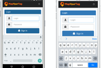 MapYourTag screenshot: iPhone & Android App - Log in page