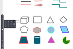 BrainCert screenshot: Powerful line tools and advanced shapes such as triangle, rhombus, pentagon, hexagon, cylinder, cube, cone and other shapes in the whiteboard makes it easy to deliver any type of creative and educational training online.