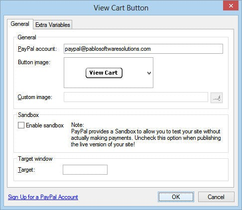 PayPal Software - Account options