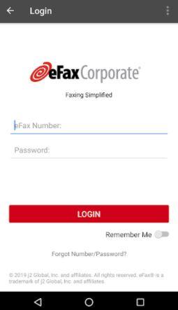 eFax Corporate login