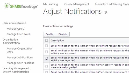ShareKnowledge user management screenshot