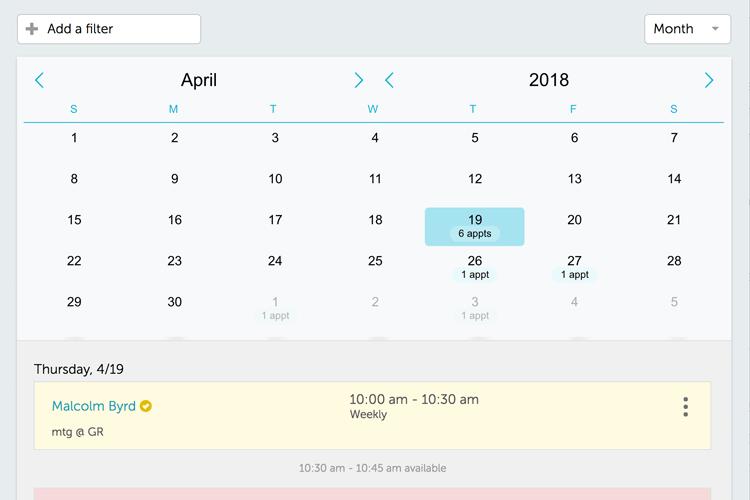 GoReminders calendar view