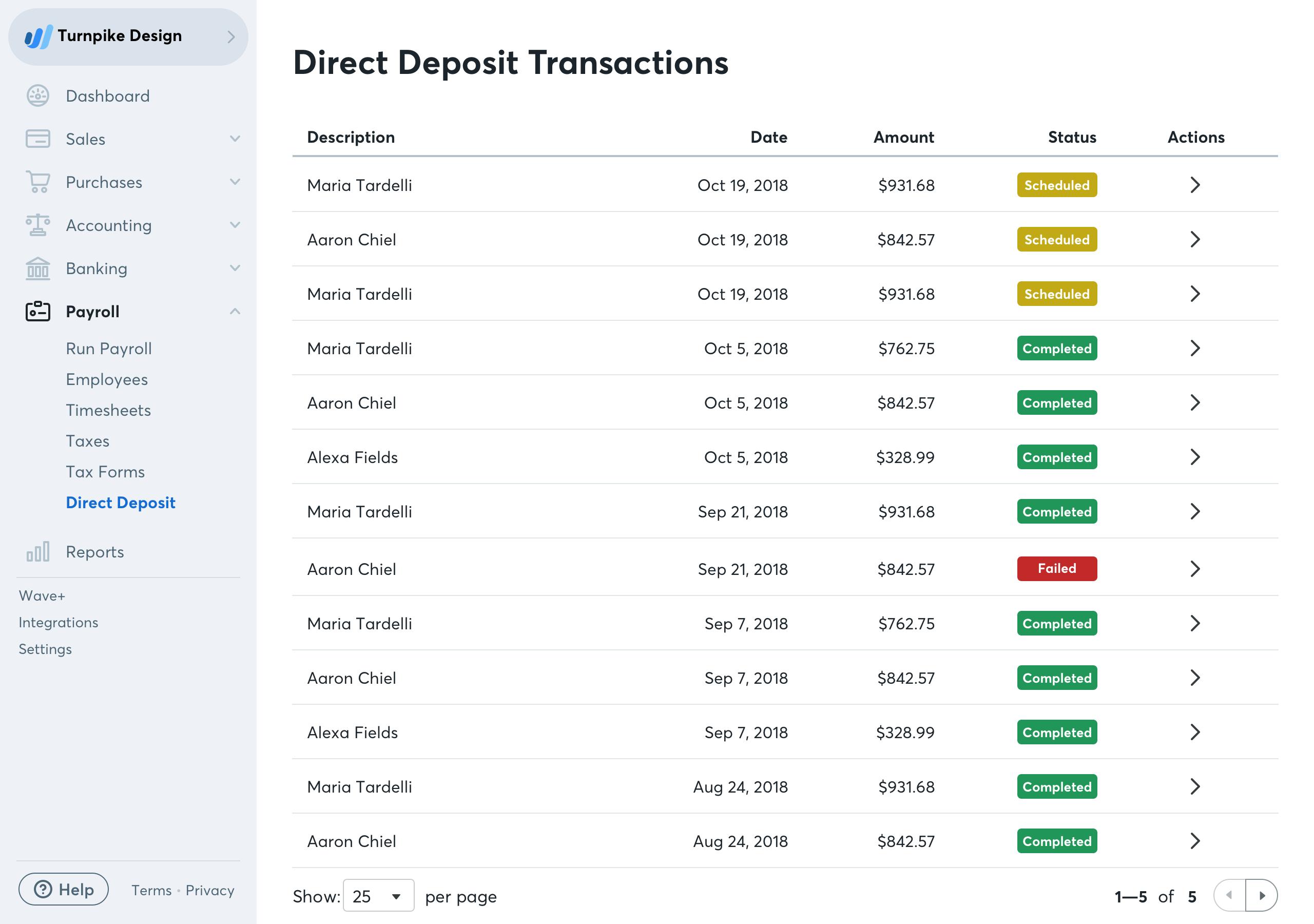 Direct Deposit Transactions