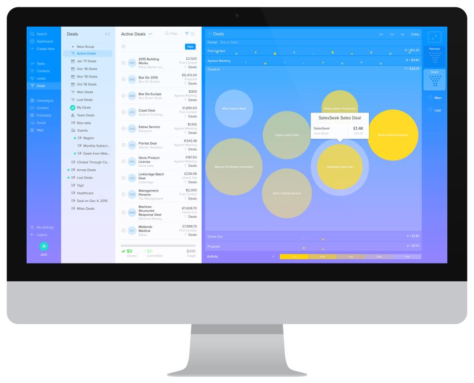 SalesSeek Software - Zoomed Visual Funnel