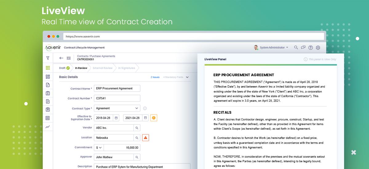 Aavenir Contractlflow Software - Aavenir Contractflow - Contract Authoring with Live View
