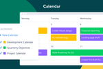 Wrike screenshot: Managed online calendar