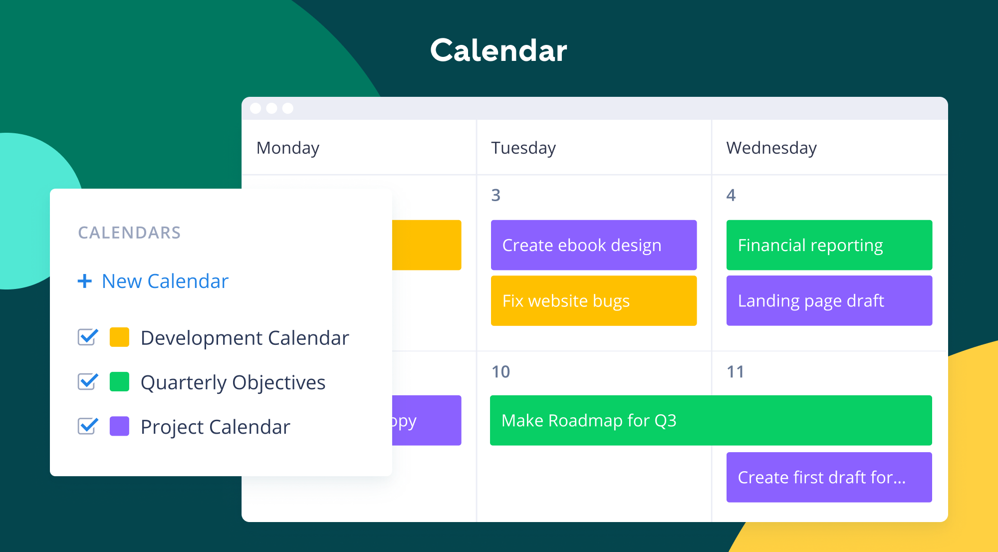 Managed online calendar
