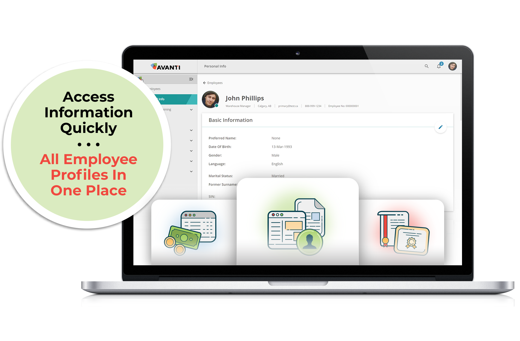 Centralized employee directory and profile