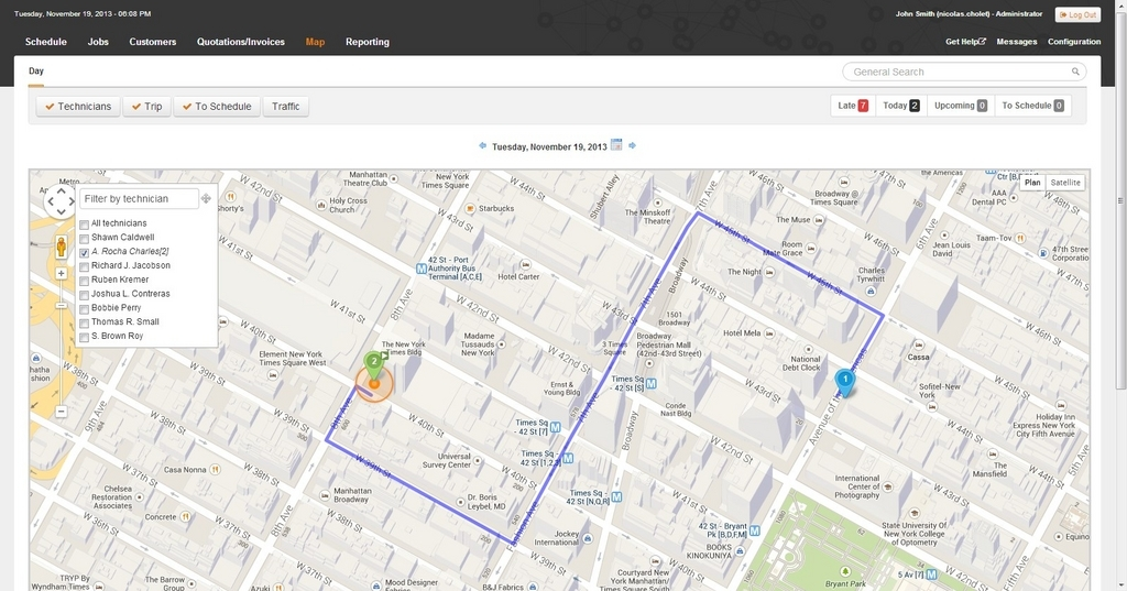 Synchroteam Software - Synchroteam map