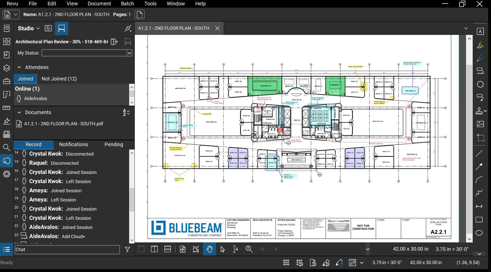 Bluebeam Revu Software - 2