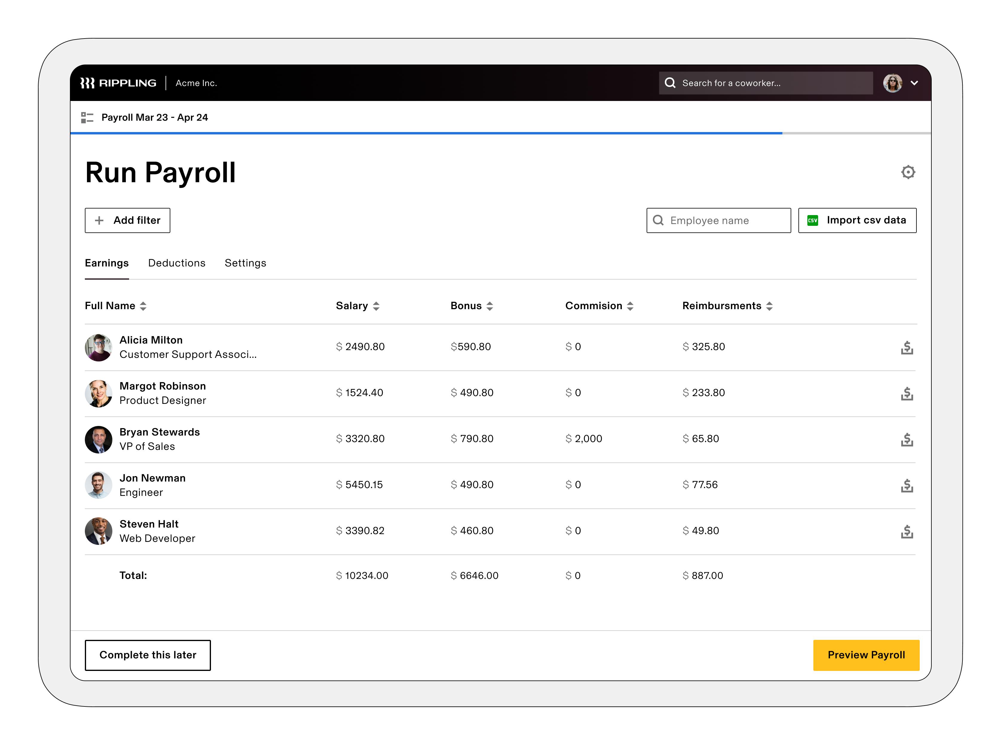 Rippling Software - Payroll