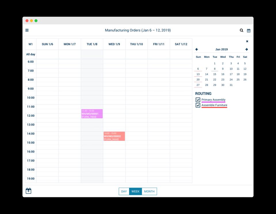 AccelGrid manufacturing order tracker screenshot