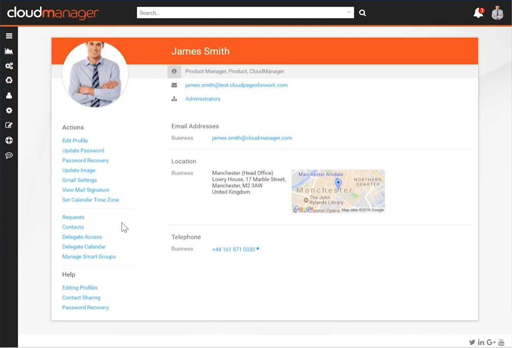 CloudM Manage staff profiles