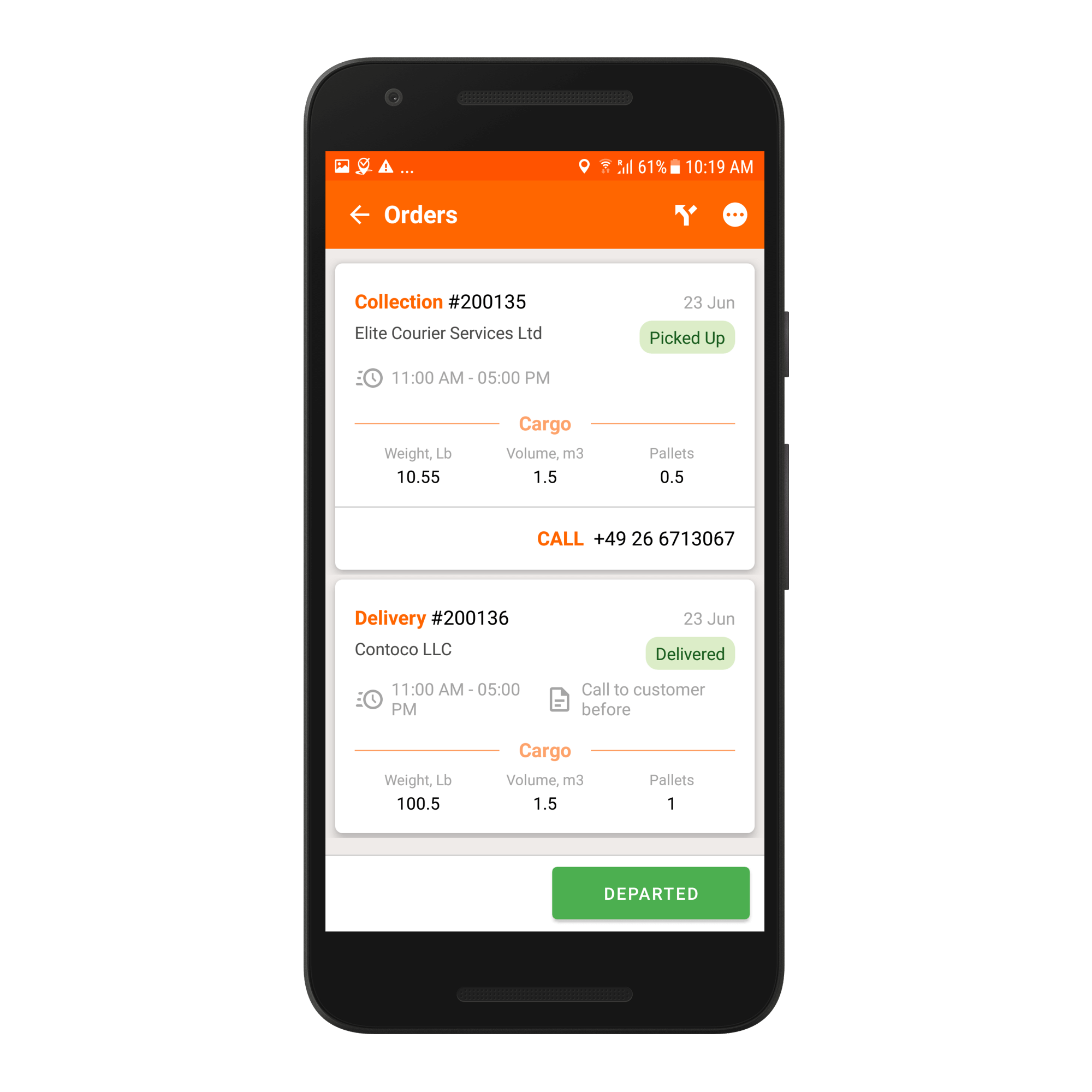 Track-POD Software - Delivery app for the driver - Track-POD