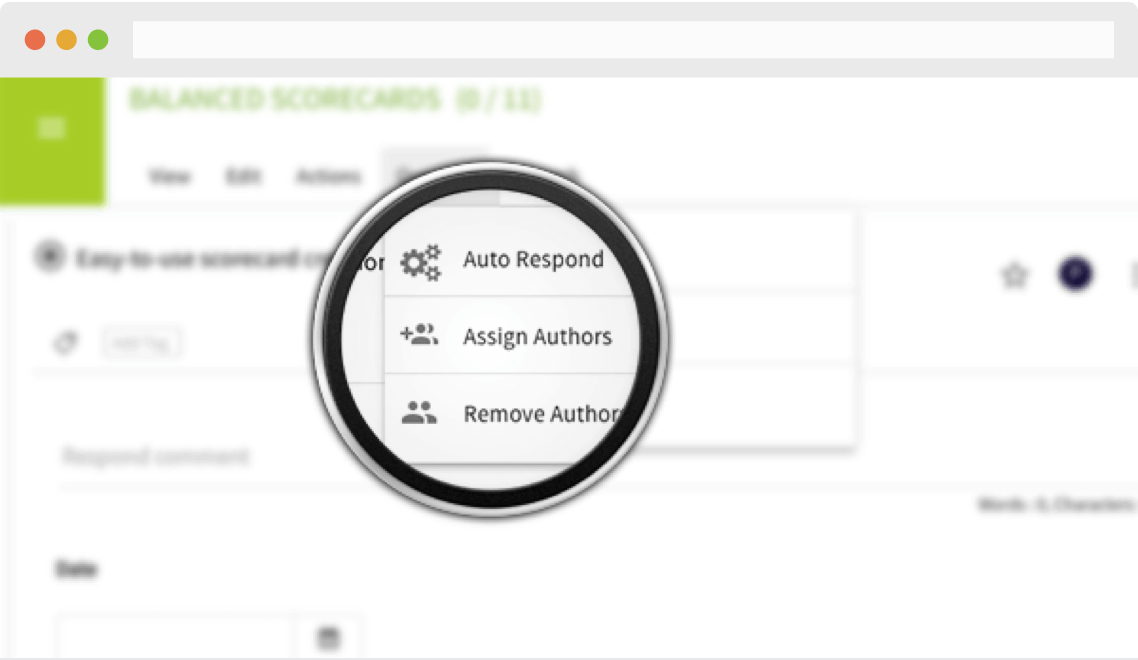 Assign authors and reviewers to individual questions; contributors are notified their help is needed on their preferred platform (e.g. email, Slack, Teams, or Hangouts).
