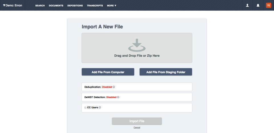 Nextpoint Software - Import files