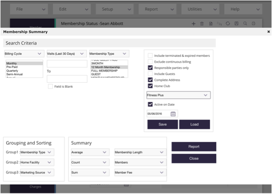 The custom report builder gives staff the ability to create their own custom reports fields to monitor member actions