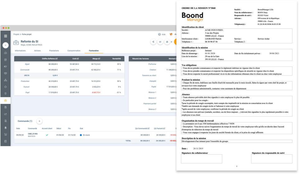 BoondManager screenshot