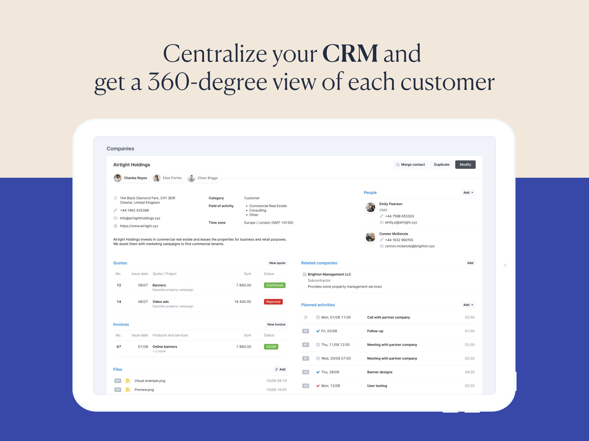Centralized CRM