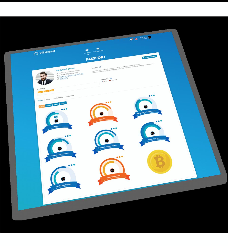 SkillsBoard screenshot: Continuous & Open badges
