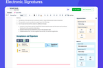 Revv Software - ELECTRONIC SIGNATURES - Add signature blocks and signer details to request eSignatures on your documents. Recipients get notified via email to fill and sign documents from their mobile or desktop.