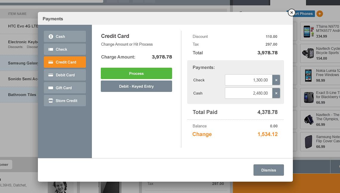 MicroBiz Cloud POS Software - Payment