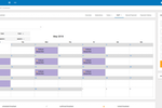 Bizstim screenshot: Manage employees and use the calendar tool to schedule work hours