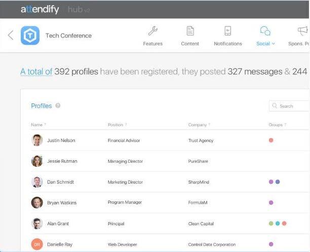 Attendify Software - Community management