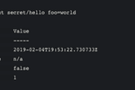 Vault screenshot: Vault writing a secret