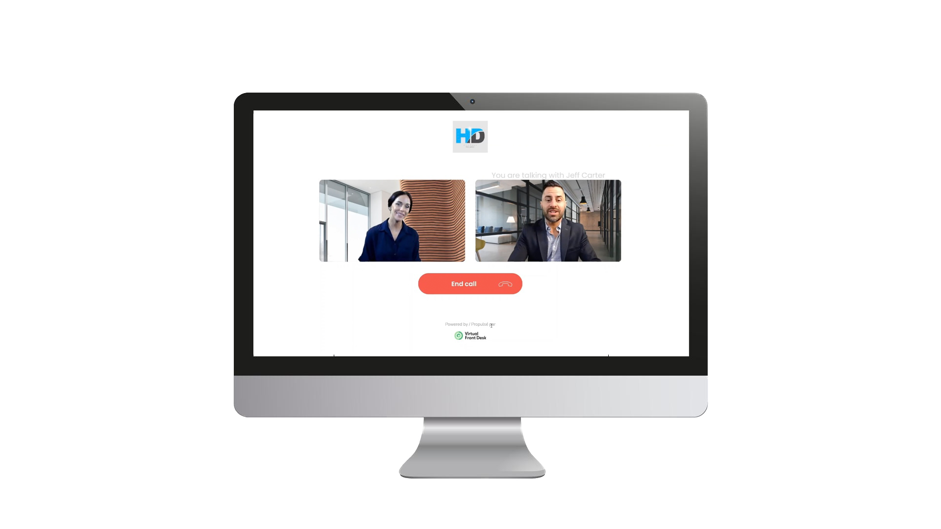 Virtual Front Desk Video Reception using a touch screen PC.