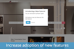WalkMe screenshot: Engage your users and increase adoption of new features