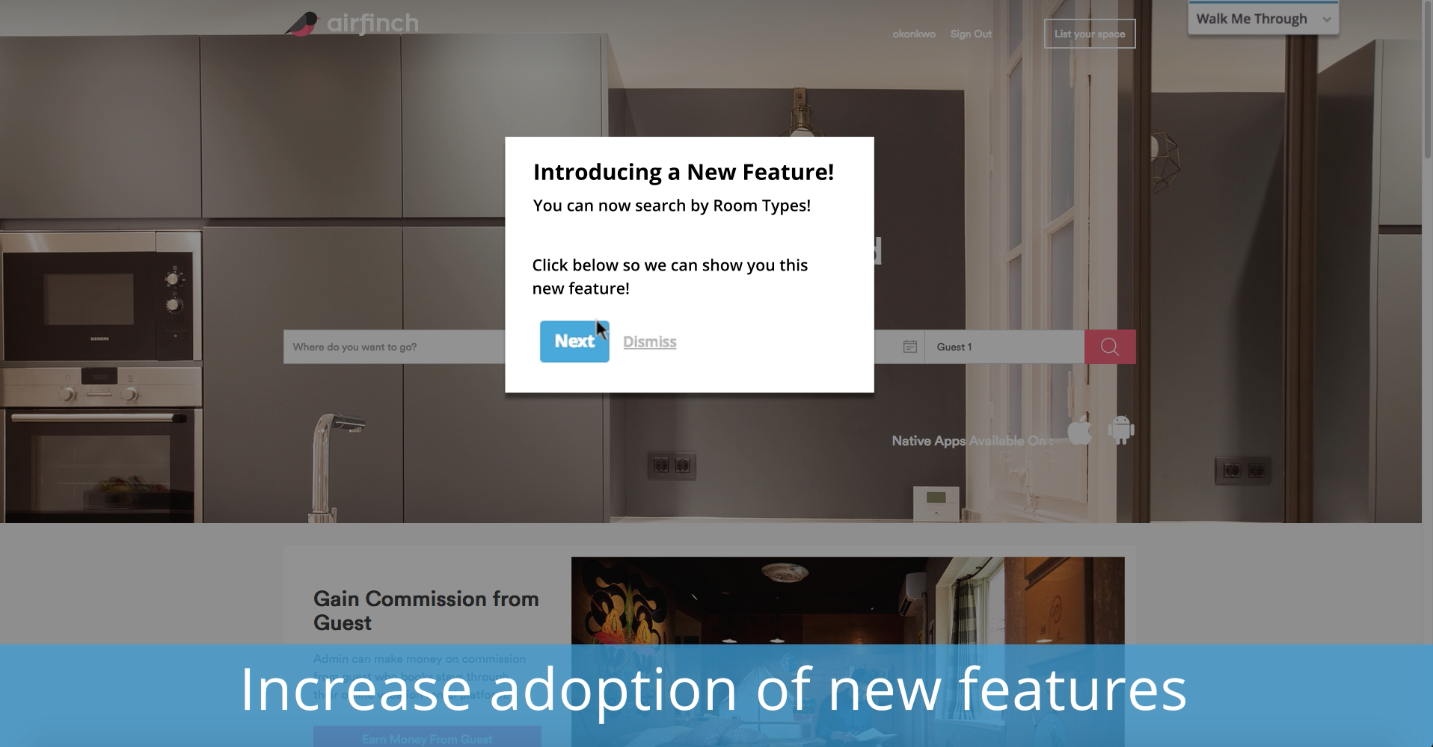 Engage your users and increase adoption of new features
