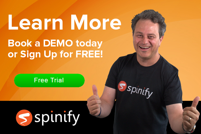 Book a DEMO today and learn how Spinify can help your team succeed!
