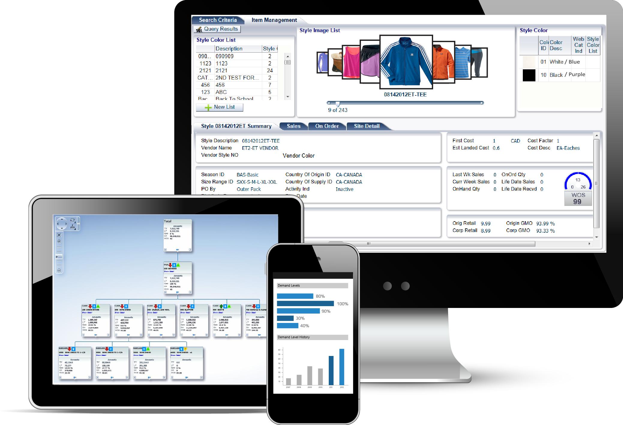 Jesta Vision Suite Software - Merchandising Software
