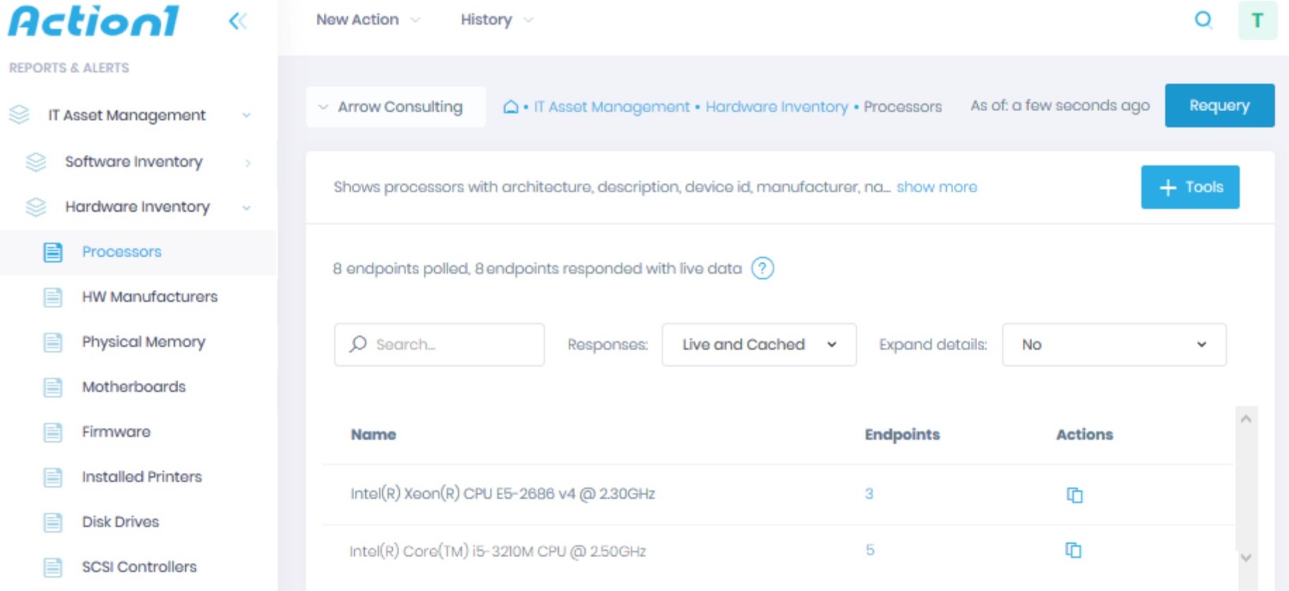 Action1 RMM IT Asset Inventory