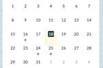 Beehively screenshot: Beehively calendar