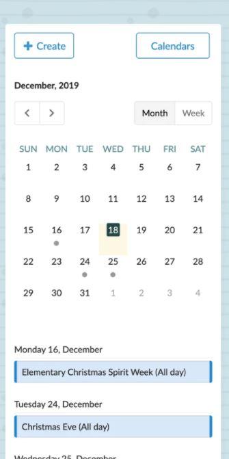 Beehively calendar