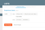 Sift Science screenshot: Create and save a unlimited number of manual review queries