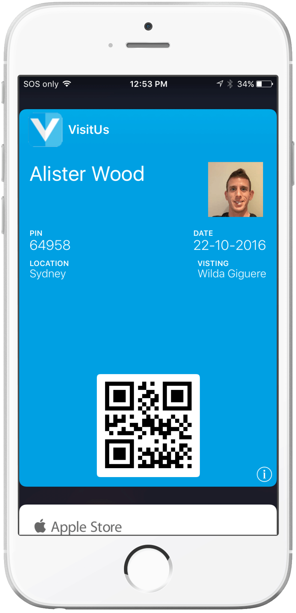 Visitors can now save their emailed visitor pass to the Apple Passbook or Android compatible app
