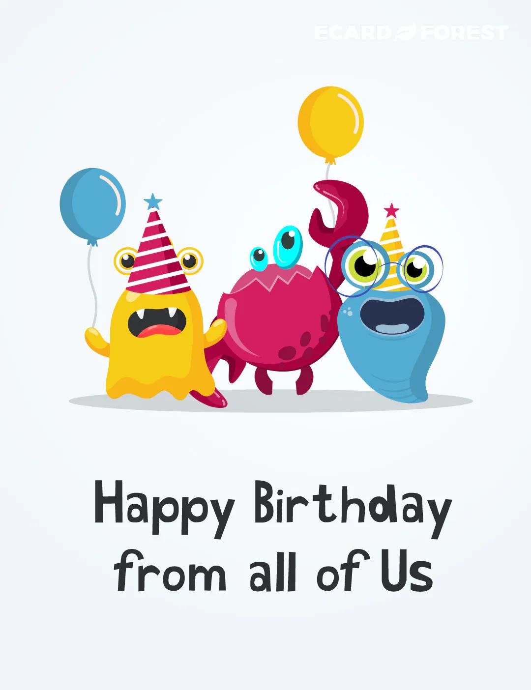 Birthday group ecard