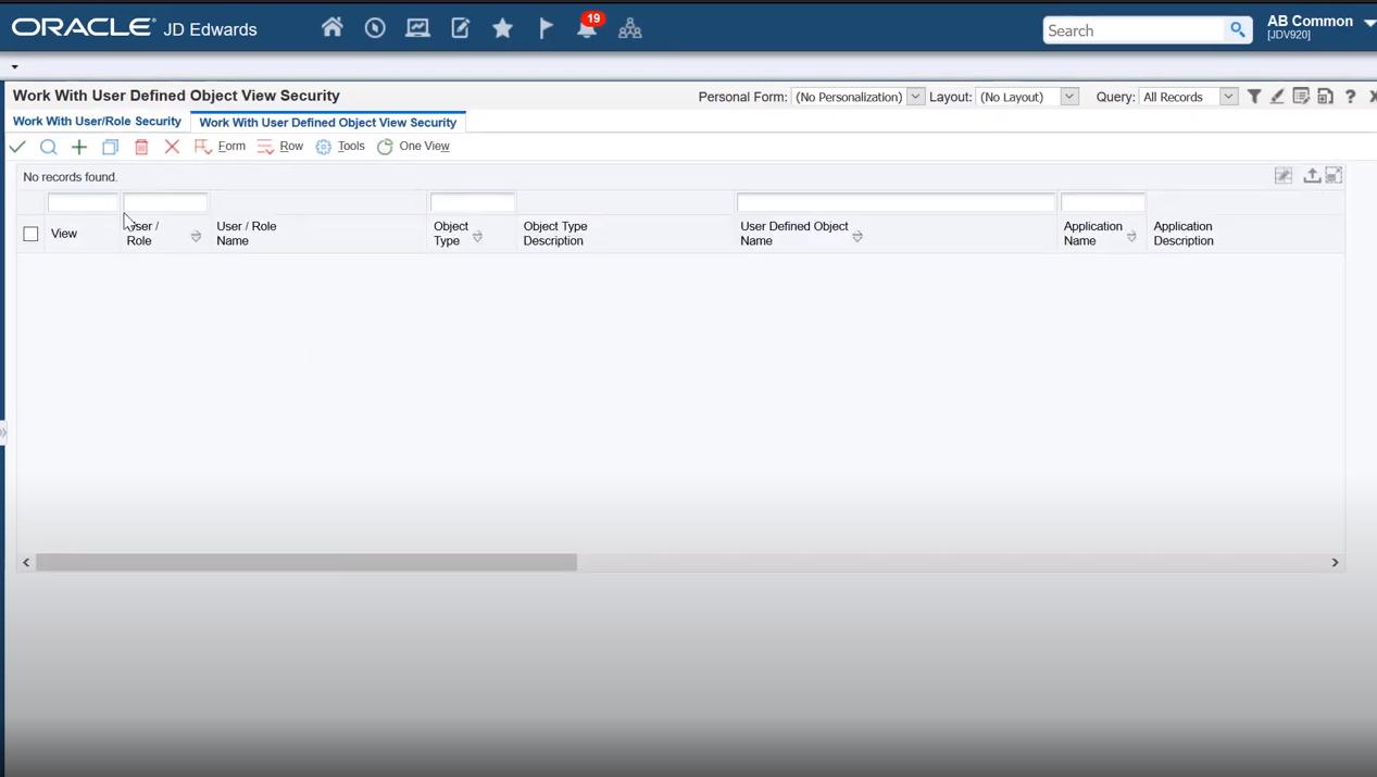 JD Edwards EnterpriseOne Software - JD Edwards EnterpriseOne base form security