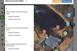 SingleOps screenshot: Job-site mapping allows users to drop pins and give instructions on jobs